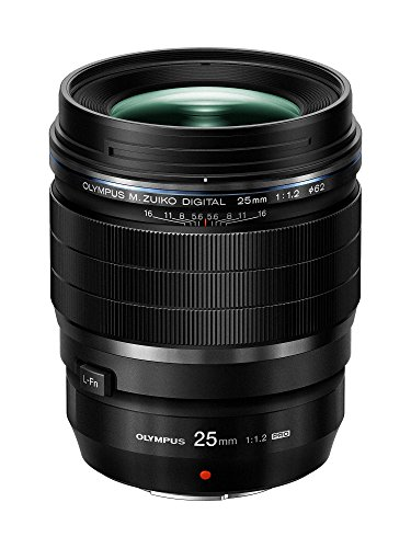 Olympus M.Zuiko Digital ED 25mm f1.2 PRO Lens, Black