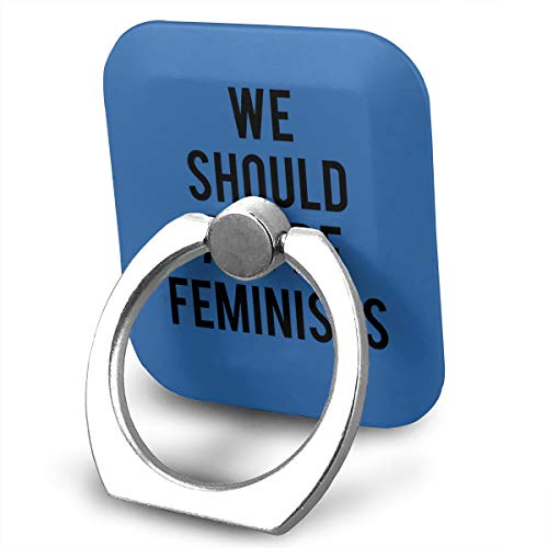 Happy Index We Should All Be Feminists 360° Rotation Cell Phone Ring Holder Cellphone Finger Stand for iPhone, IPad, Samsung Galaxy S9/S8 and More Smartphones