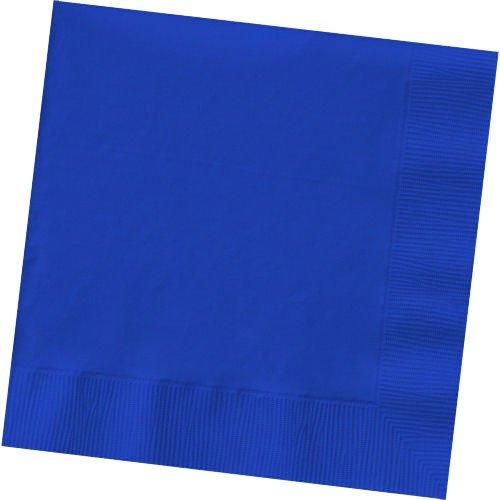 Amscan Bright Royal Blue Beverage Napkins Big Party Pack, 125 Ct. ()