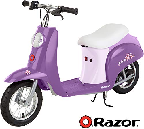 Razor Pocket Mod Miniature Euro Electric Scooter - Betty - 15130691 (Girls Purple Electric Scooter)