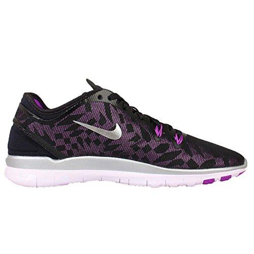 Nike Womens Free 5.0 Tr Fit 5 Prt Scarpe Da Allenamento Donna Us Black / Metallic Silver-vivid Purple-lght V