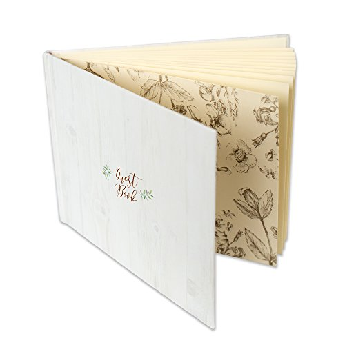 Customoffi Guest Book - Wedding, Graduation, Birthday, Baby Shower, Engagement - Simple and Unique with its 15 Blank Sheets]()