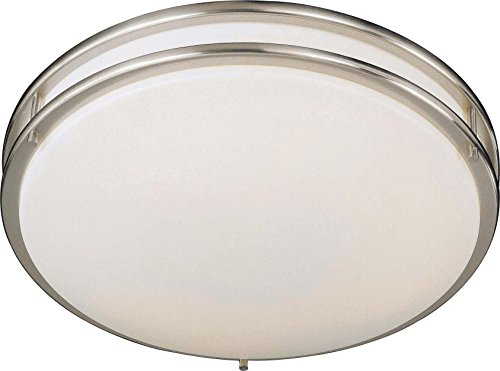 Minka Lavery Flush Mount Ceiling Light 861-84-PL Energy Star Fixture, 2 Light, 54 Watts Fluorescent, Nickel