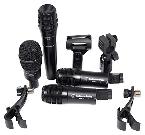 rum Microphone Kit w/ (4) Mics For Church Band Sound System ()