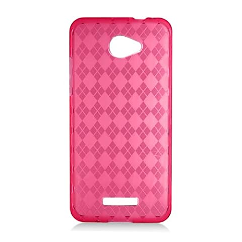 Red Soft Candy Skin TPU Gel Case Cover For HTC Droid DNA 6435 (Cover Htc Droid Dna 6435)