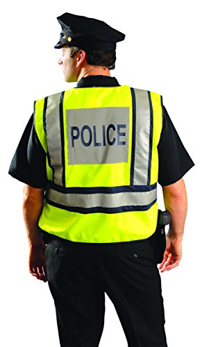 OccuNomix LUX-PSP-YM/L Public Safety Police Vest, Medium/Large, Yellow/Navy by OccuNomix (Image #1)