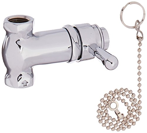 Central Brass 0335-1/2 Self-Close Shower Straight Stop, Chrome ()