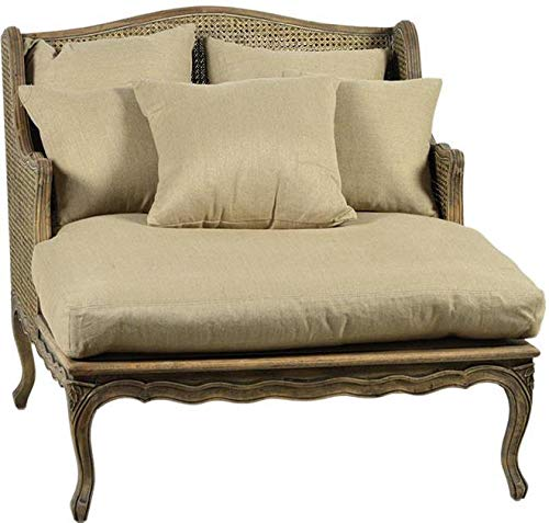 Used, Chaise Dovetail Madeleine Antiqued Cane Back and Wings for sale  Delivered anywhere in USA