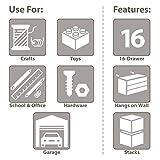 Akro-Mils 16 Drawer 10116, Plastic Parts Storage