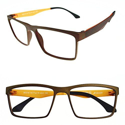 Agstum Mens Ultem Flexible Optical Eyeglasses Frame Myopia Glasses Rxable