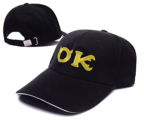 [XINMEN Monsters University Oozma Kappa Logo Adjustable Baseball Caps Unisex Snapback Embroidery] (Monsters University Hat)
