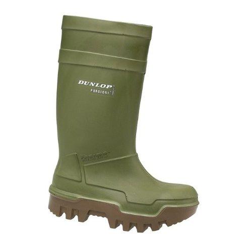 Dunlop Thermo-Gummistiefel, dunkelgrün, kälteisoliert bis -50°C , rutschfeste Sohle