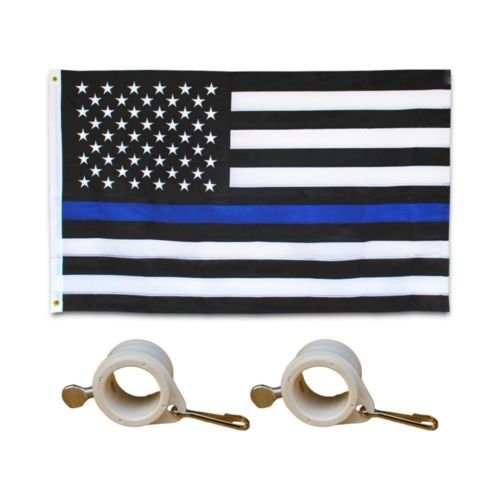 Embroidered Thin Blue Line Flag 3X5 Foot US American Police