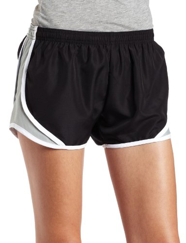 Soffe Juniors Crew Shorty Short, Black/Silver, Small
