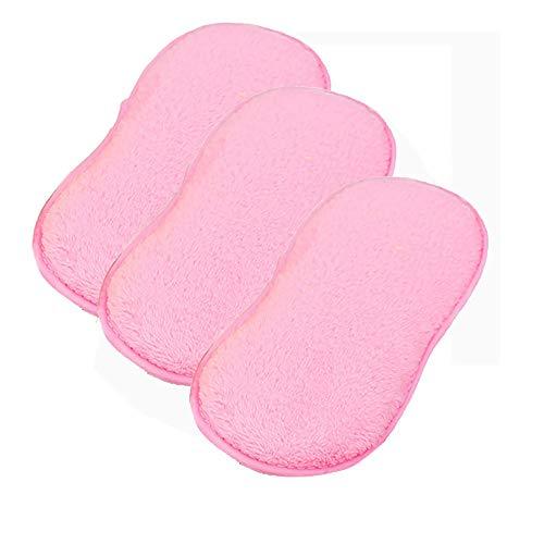 Double Sided Tab Dispenser - Buyeverything 3 Pack Dishwashing Sponge Microfiber Cloth Towel Magic Kitchen Cleaning Wiping Rags Food-Grade Antibacterial Dish Brush Scrubber Wash Pot Pan Dish Bowl Tool Dishwasher (Pink)