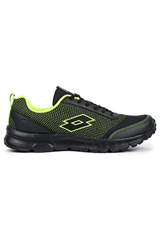 Lotto Men Splash Black/Lime Shoes 9
