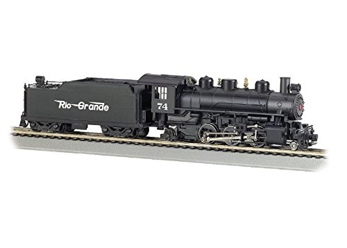 Bachmann Industries Trains Prairie 2-6-2 With Smoke & Tender Rio Grande #74 (Flying Grande) Ho Scale Steam Locomotive