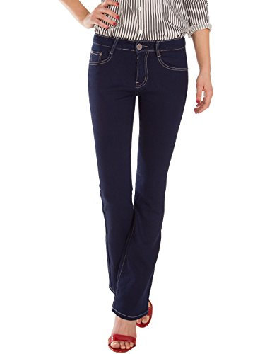 Fraternel pantalon bootcut normale Bleu jeans femme taille vrqxwrdB6