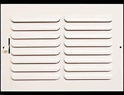 """12"""" x 6"""" - 1-Way Curved Blade Supply Air Grille - Maximum Air Flow - HVAC Vent Cover"""