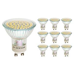 sebson gu10 led 3 helle led lampen die viel l ngerhalten als die normalen halogenlampen. Black Bedroom Furniture Sets. Home Design Ideas