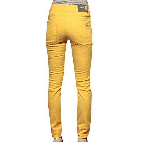 83099 Light Donna For 7 Stretch Drill Mankind Giallo All Pantaloni Women Jeans Trousers 4Xrgq4