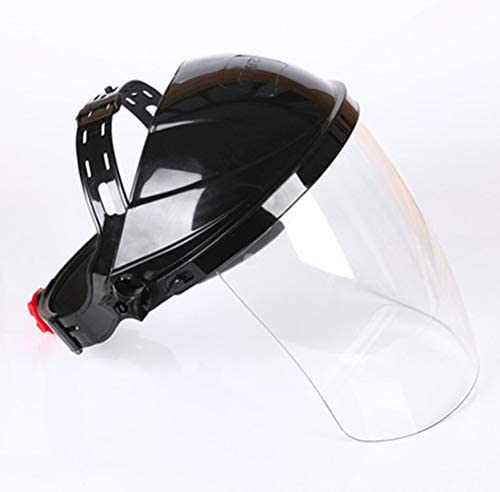 Vosarea Soldador de Cabeza Transparente montado en la Cabeza Soldadores M/áscaras Anti-UV Cascos de Soldadura Negro