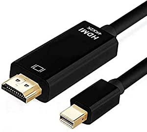 Mini DisplayPort to HDMI 4K - Thunderbolt to HDMI Adapter Cord 6FT Compatible with Apple MacBook Air Pro, Mac Mini, Microsoft Surface Pro 3/4 Dock to TV/Monitor/Projector