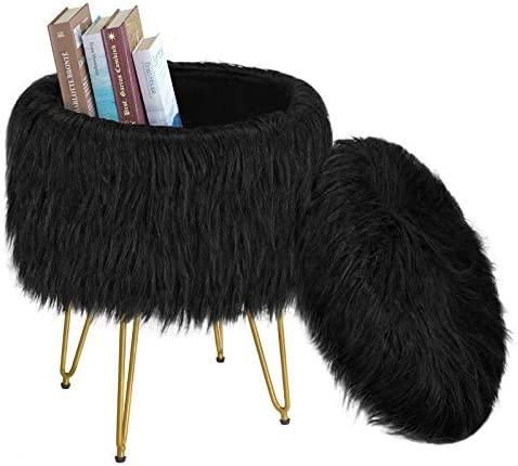 Greenstell Vanity Stool Chair 4 Metal Legs