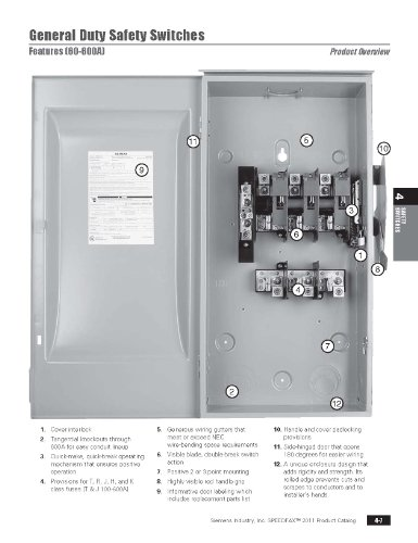 SIEMENS GF222NR 60 Amp, 2 Pole, 240-Volt, 3 Wire, Fused, General Duty, Outdoor Rated by Siemens (Image #1)