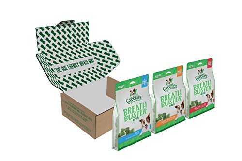 Greenies Breath Buster Bites Dog Treats Variety Pack: Chicken & Parsley Flavor, Crisp Apple Flavor, And Fresh, 33 Oz. Pouches, Great Holiday Dog Gift
