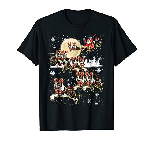 Boston Terrier Reindeer Christmas - Nice Dog Tshirt