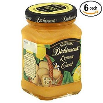 Dickinson's Lemon Curd, 10-Ounce (Pack of 6) (Lemon Curd Jars)