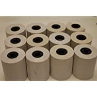 Thermal Credit Card Paper Rolls 2-1/4in X 80ft. Package of 12 for First Data-FD50,FD400, Hypercom- T4100/T4210/T4220/ICE5500, T7 plus, T7P,T T77,F T77,F T77,Lipman (Nurit) 8000/3010 3000/3010/3020/8020/8320