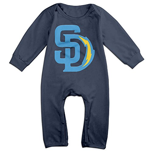 Ahey Boy's & Girl's San Diego Sport Football Mixed Long Sleeve Outfits 12 Months