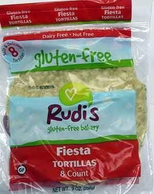 Rudis Gluten Free Fiesta Tortillas 9 Ounce (Pack of 12) - Pack Of 12