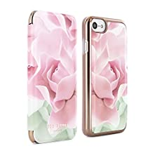 Official TED BAKER® AW16 iPhone 6 / 6S Case - Luxury Folio Case / Cover in Flower Design for Women with Built-In Interior Mirror for the Apple iPhone 6 and iPhone 6S - KNOWAI - Porcelain Rose - Nude