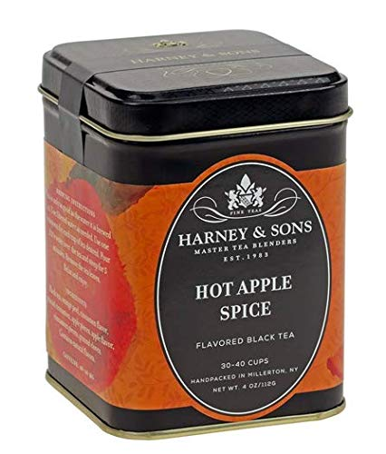 Harney & Sons HOT APPLE SPICE Flavored Black Tea 4 oz Tin