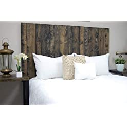 Bedroom Ebony Headboard King Size Stain, Leaner Style, Handcrafted. Leans on Wall. Easy Installation farmhouse headboards