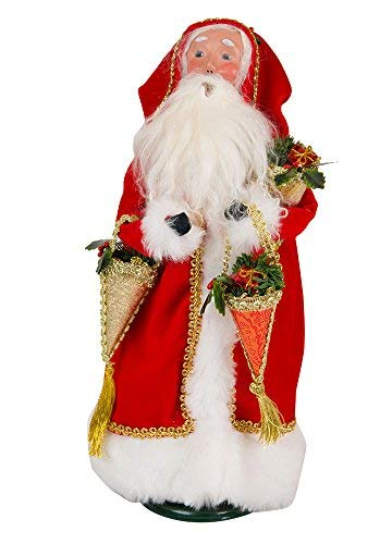 Christmas Candy Container - Byers' Choice Father Christmas with Candy Containers Caroler Figurine #3183 from The Santa Collection