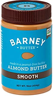 product image for BARNEY Almond Butter, Smooth, Paleo Friendly, KETO, Non-GMO, Skin-Free, 16 Ounce-SET OF 4