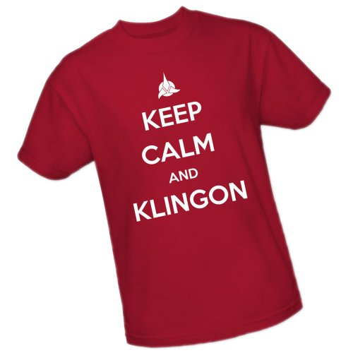 """Keep Calm And Klingon"" -- Star Trek Adult T-Shirt"