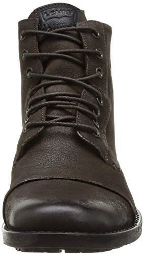 Amazon.com | Levi's Maine Brown Mens Lace Up Mid Ankle Leather Army Shoes  Boots | Fashion Sneakers