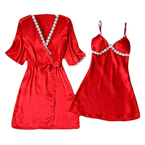 Mujeres Sexy!!! Longra❤ ❤️Calcomanía de Encaje Ropa de Dormir Lencería Tentación Conjunto de Vestido de Ropa Interior: Amazon.es: Ropa y accesorios