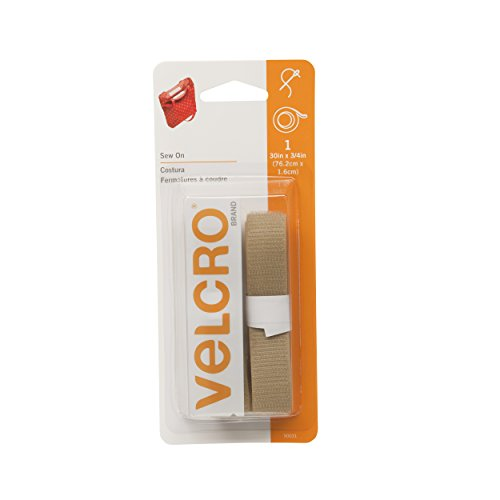 "VELCRO Brand - Sew On Fasteners - 3/4"" Wide Tape - 30"" - Beige"