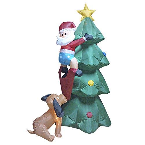 Christmas Workshop 81370 - Árbol de Navidad Hinchable con Perro (2 ...