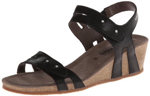 Womens Mephisto Leather Minoa Sandals Black 8wqOdw6