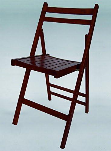 Kit Closet Chaise Pliante en Bois Couleur Wengé: