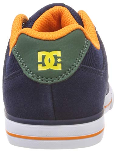 Trainers Elastic DC Youth Pure Leather Nubuck Multi Shoes WSWqYAw4