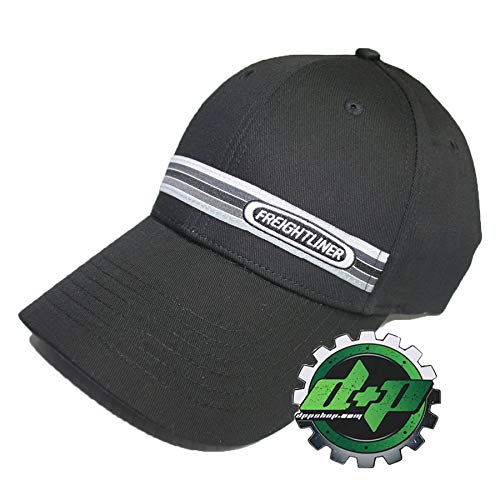 Diesel Power Plus Freightliner Black Woven Stripe hat semi Trucker Base Ball Cap Truck Gear cat