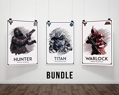 Trio Rule - Hunter, Titan, Warlock Poster Bundle
